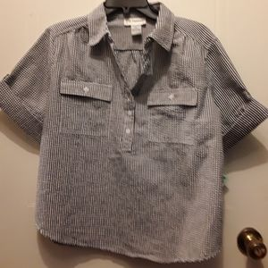 *2 For 12* Petite XL Checkered Blouse